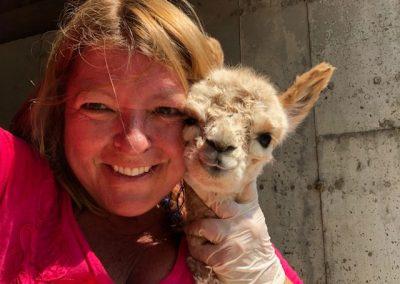 Mary Beth and Baby Alpaca